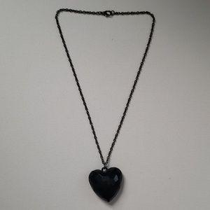 Black Heart Pendant Necklace
